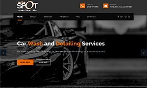 Car Wash Website Design, SEO Optimization Car Detailing Center - Business Website Designer, Graphopoly Designs